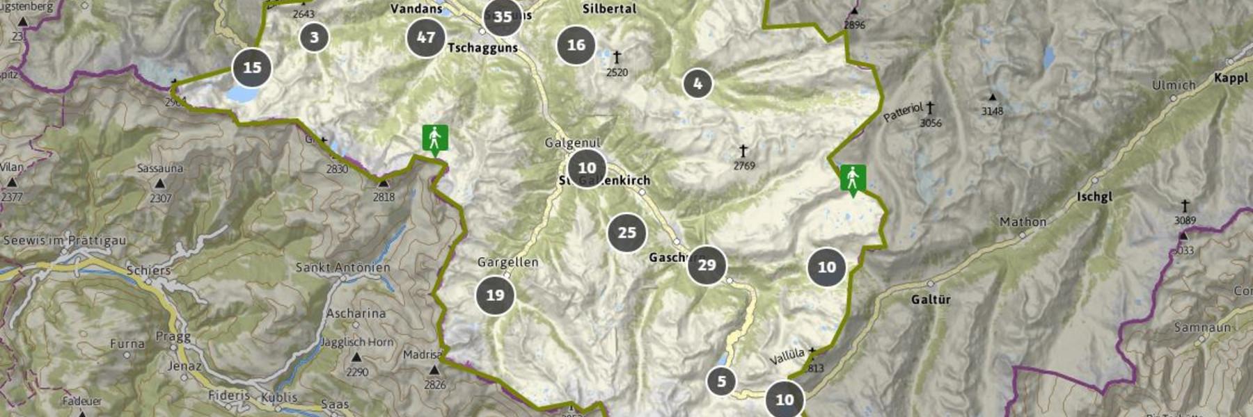Vorarlberg Karte Berge.Wandern In Vorarlberg Im Montafon Www Montafon At