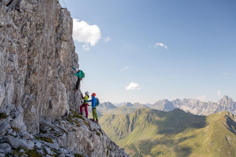 Klettersteig Englisch : Tegelberg klettersteig mit bergführer