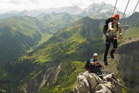 Klettersteig Saulakopf : Klettersteige montafon alpen saulakopf schmugglersteig