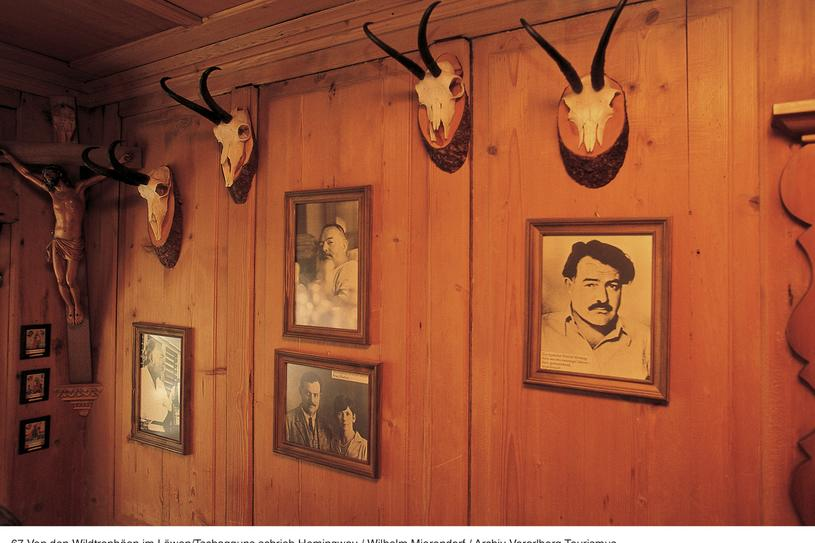 Of the wild game trophies in Hotel Löwen, Ernest Hemingway wrote | © Archiv Vorarlberg Tourismus