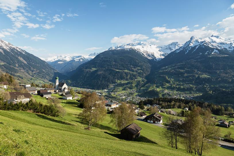 Bartholomäberg in spring | © Montafon Tourismus GmbH Schruns - Andreas Haller