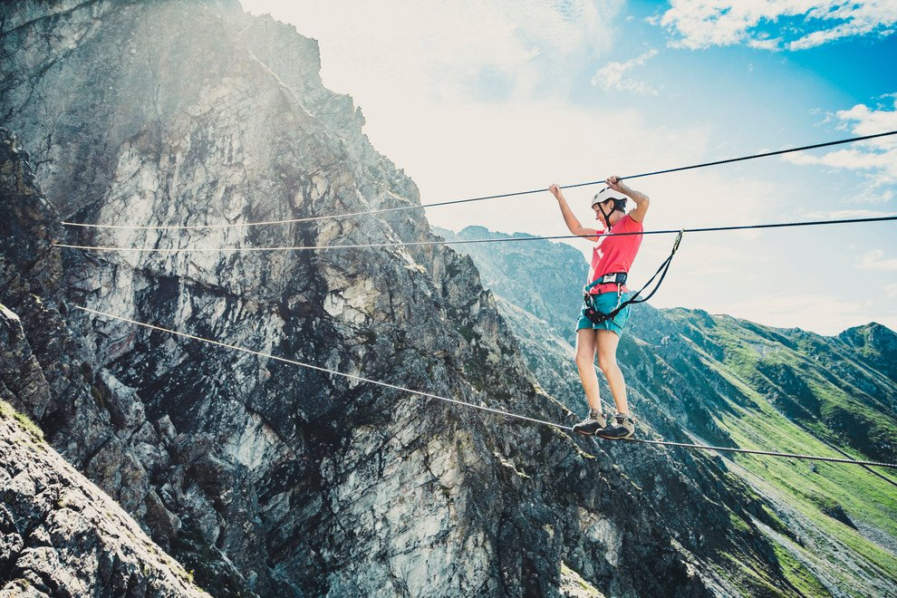 Vaude Klettersteig : Der vaude schmugglersteig in gargellen moosbrugger climbing