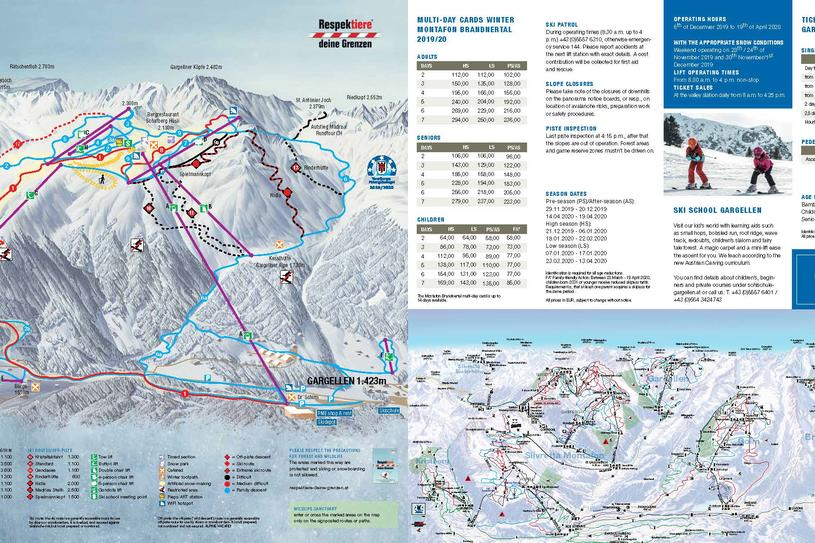 Gargellen winter plan | © Gargellner Bergbahnen GmbH & Co KG