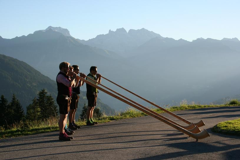 Montafon alphorn joy on the Kristberg