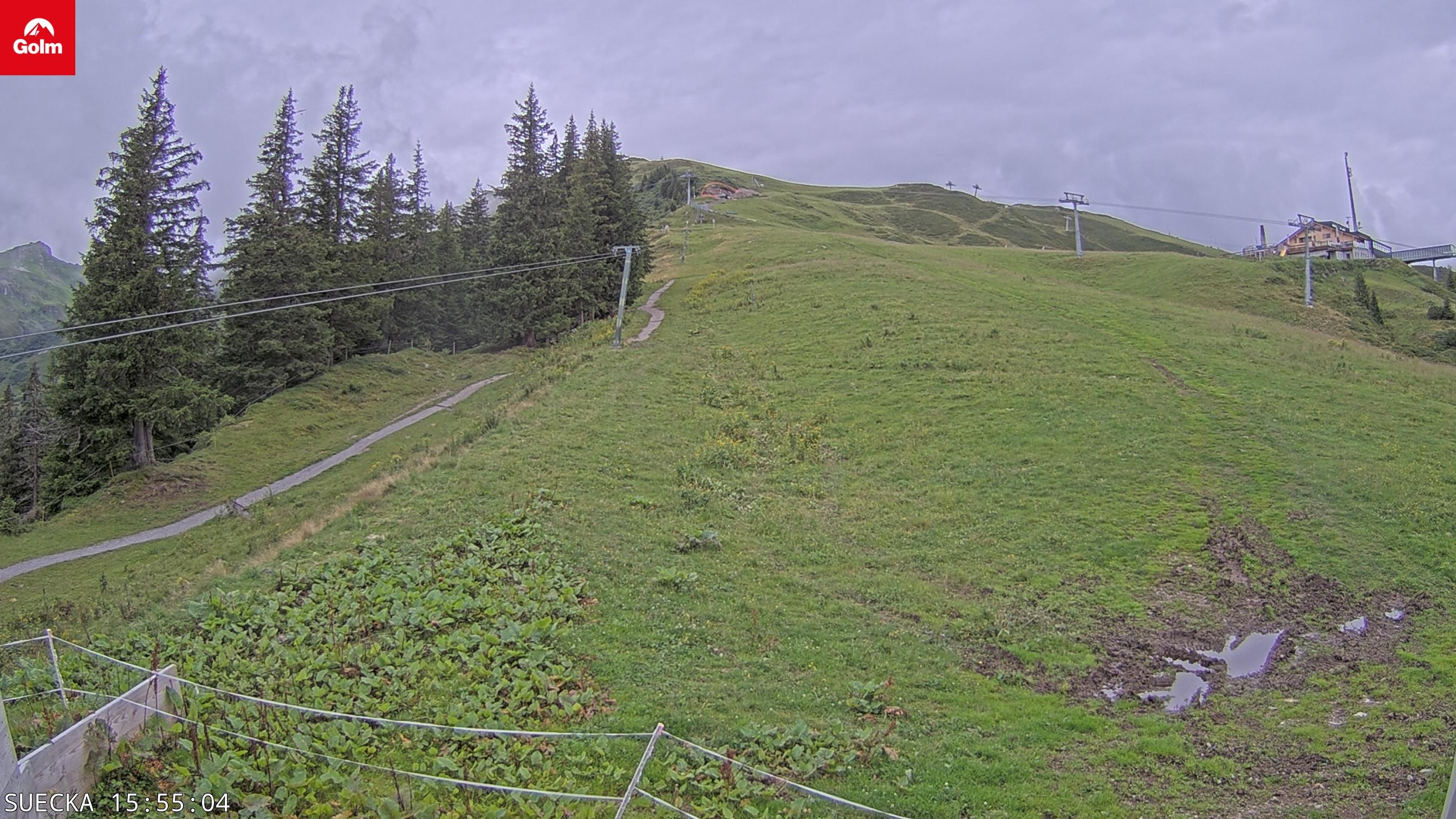 Blick von der Talstation des Schlepplift Sücka.